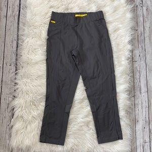 Lole Grey Cropped Mesh Contrast Leggings sz XS